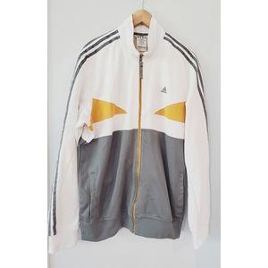 Adidas Gray White Yellow Jacket XL